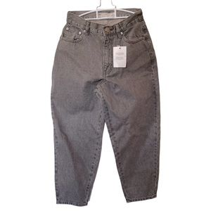 "ASOS Petite Gray Denim High Waist Mom Jeans UK 28"""